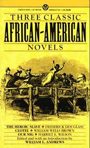 Cover of: Three classic African-American novels