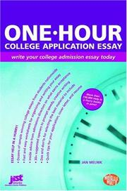 Cover of: One-hour college application essay