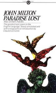 Cover of: Paradise Lost and Other Poems