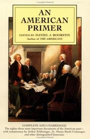 Cover of: An American Primer (Plume)
