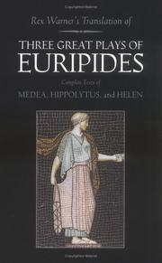 Cover of: 3 Great Plays of Euripides | Euripides