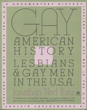 Cover of: Gay American history | Jonathan Katz