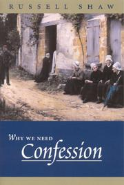 Cover of: Why We Need Confession