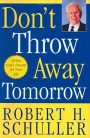 Cover of: Don't Throw Away Tomorrow