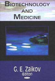 Cover of: Biotechnology And Medicine