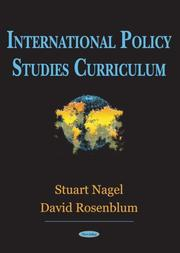 Cover of: International policy studies curriculum