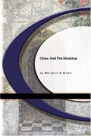Cover of: China and the Manchus
