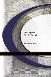 Cover of: The Emperor | Georg Ebers