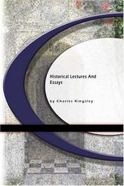 Cover of: Historical lectures and essays