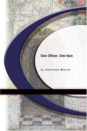 Cover of: One Officer, One Man