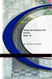 Cover of: History Of Friedrich II of Purssia