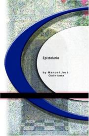 Cover of: Epistolario by Manuel José Quintana