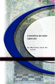 Cover of: A beneficio del señor López