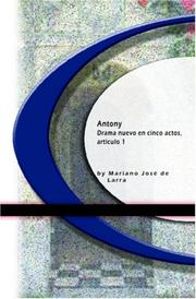 Cover of: Antony