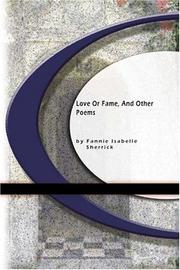 Cover of: Love or Fame and Other Poems