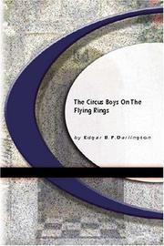 Cover of: The Circus Boys On The Flying Rings | Edgar B.P.Darlington