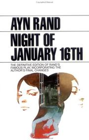 Cover of: The Night of January 16th (Plume)