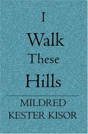 Cover of: I Walk These Hills