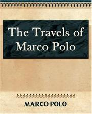 Cover of: The Travels of Marco Polo - 1886
