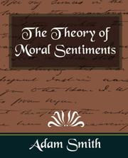 Cover of: The Theory of Moral Sentiments
