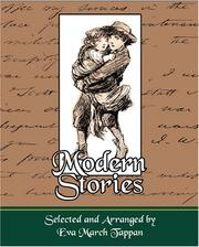 Cover of: Modern Stories | Selected and Arranged by Eva March Tappa