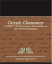 Cover of: Occult Chemistry | Annie Wood Besant