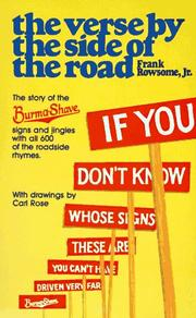 Cover of: The Verse by the Side of the Road  | Frank Rowsome Jr.