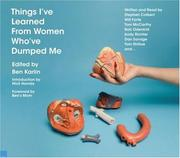 Cover of: Things I