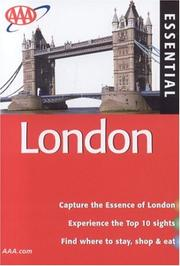 Cover of: AAA Essential London, 8th Edition (Essential London) | Paul Murphy