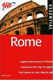 Cover of: AAA Essential Rome, 6th Edition (Aaa Essential Rome)
