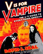 Cover of: V Is for Vampire | David J. Skal