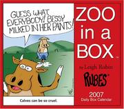 Cover of: RUBES Zoo in a Box Calendar