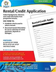 Cover of: Rental/Credit Application Forms | Socrates Media