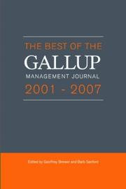 The Best of the Gallup Management Journal 2001-2007 by