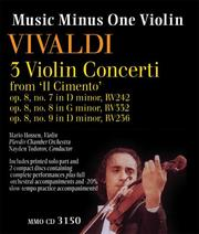 Cover of: Music Minus One Violin: Vivaldi: 3 Violin Concerti from Il Cimento (sheet music and 2CD set)