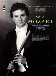 Cover of: Music Minus One Flute: Mozart Concerto No. 1 in G major, KV313 (KV285c) (Book & Digitally Remastered 2 CD Set)