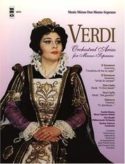 Cover of: Music Minus One Mezzo-Soprano: Verdi Arias for Mezzo-Soprano with Orchestra (Book & CD)