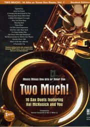 Cover of: Music Minus One Alto Sax or Tenor Sax | Hal McCusick