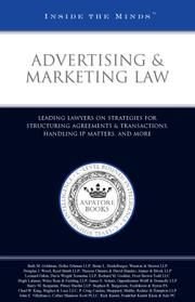 Cover of: Advertising&Marketing Law | Aspatore Books