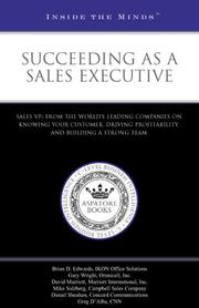 Cover of: Succeeding as a Sales Executive | Aspatore Books Staff