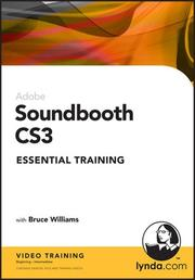 Cover of: Soundbooth CS3 Essential Training