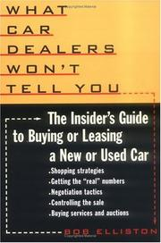 Cover of: What car dealers won't tell you