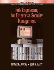 Cover of: Role engineering for enterprise security management
