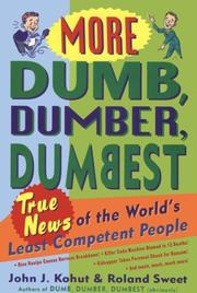 Cover of: More dumb, dumber, dumbest
