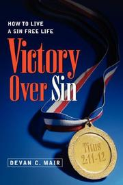 Cover of: Victory Over Sin | Devan, C Mair