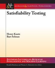 Cover of: Satisfiability Testing (Synthesis Lectures on Artificial Intelligence and Machine Learning)