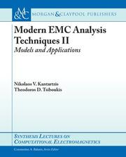 Cover of: Time-domain Modeling in Modern Emc Computational Electromagnetics II | Nikolaos V. Kantartzis