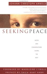 Cover of: Seeking peace | Johann Christoph Arnold