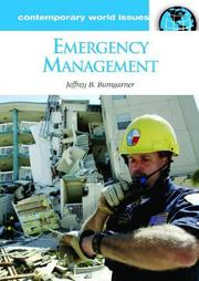 Cover of: Emergency Management | Jeffrey B. Bumgarner