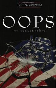 Cover of: Oops, We Lost Our Values